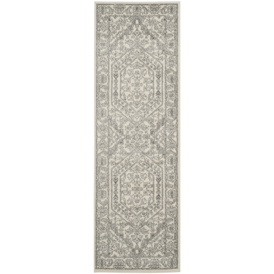 Safavieh Adirondack Herati Ivory/Silver Indoor Lodge Runner (Common: 2 x 20; Actual: 2.5-ft W x 20-ft L)
