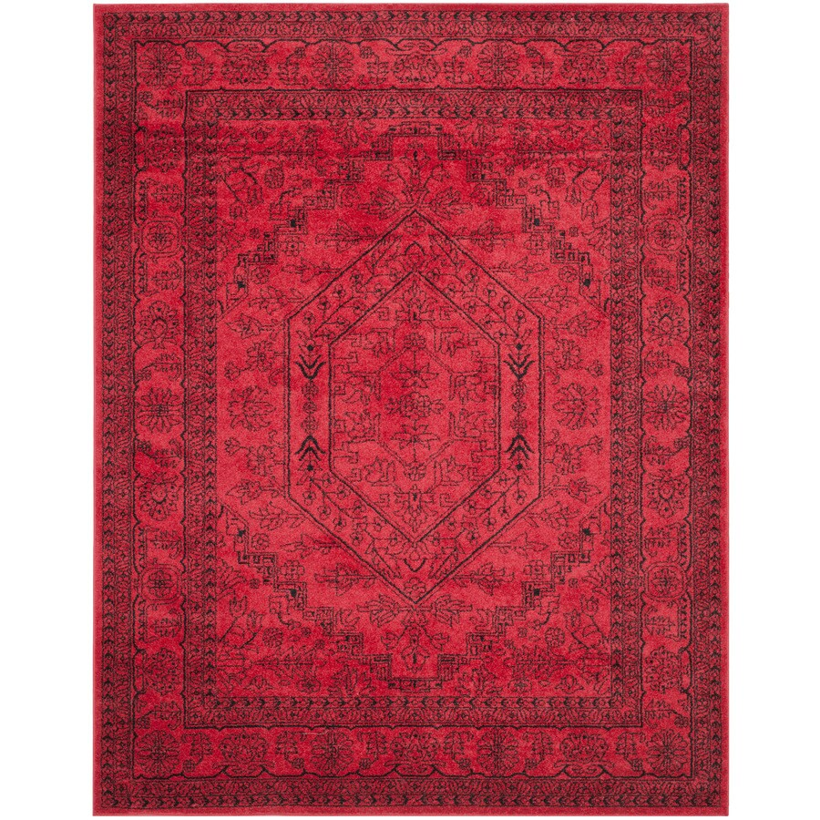 Safavieh Adirondack Red/Black Rectangular Indoor Machine-Made Area Rug