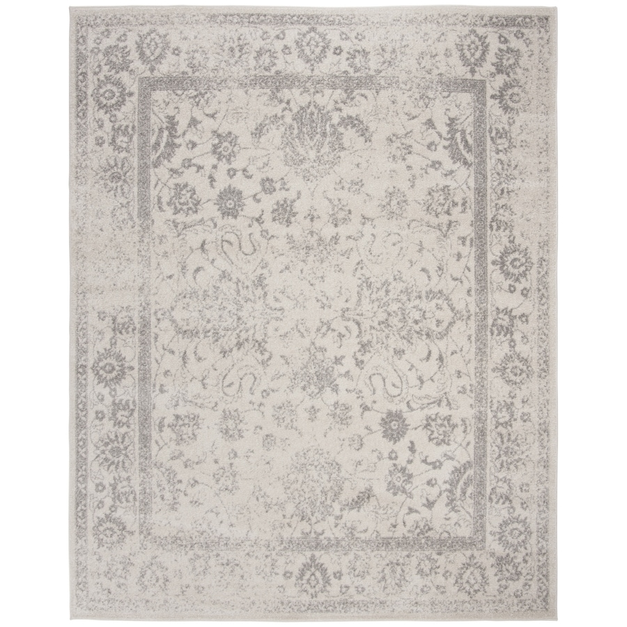 Safavieh Adirondack Kashan Ivory/Silver Rectangular Indoor Machine-Made Lodge Area Rug (Common: 12 x 18; Actual: 12-ft W x 18-ft L)