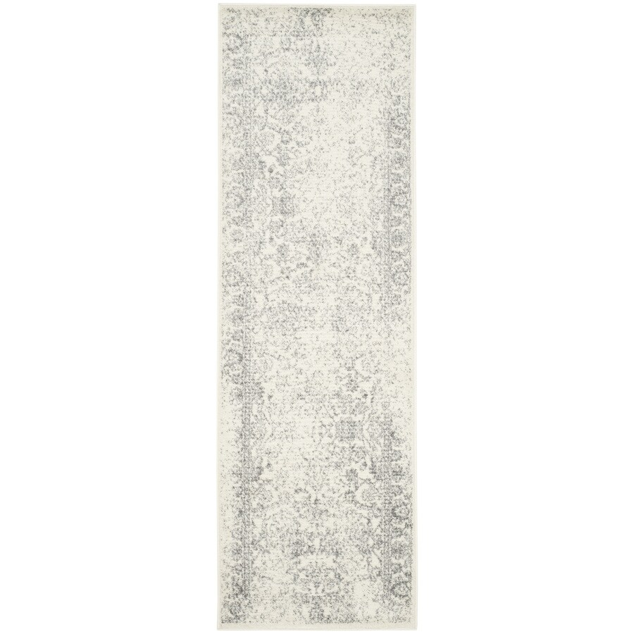 Safavieh Adirondack Kashan Ivory/Silver Rectangular Indoor Machine-made Lodge Runner (Common: 2 x 22; Actual: 2.5-ft W x 22-ft L)
