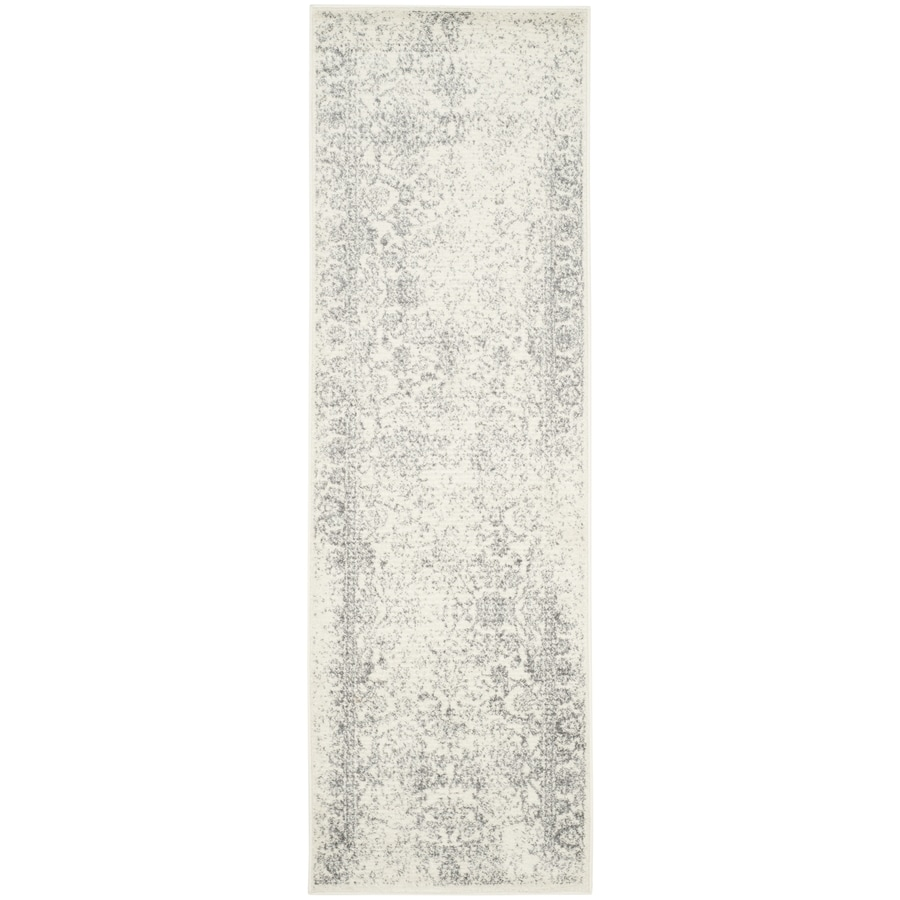 Safavieh Adirondack Kashan Ivory/Silver Indoor Lodge Runner (Common: 2 x 20; Actual: 2.5-ft W x 20-ft L)