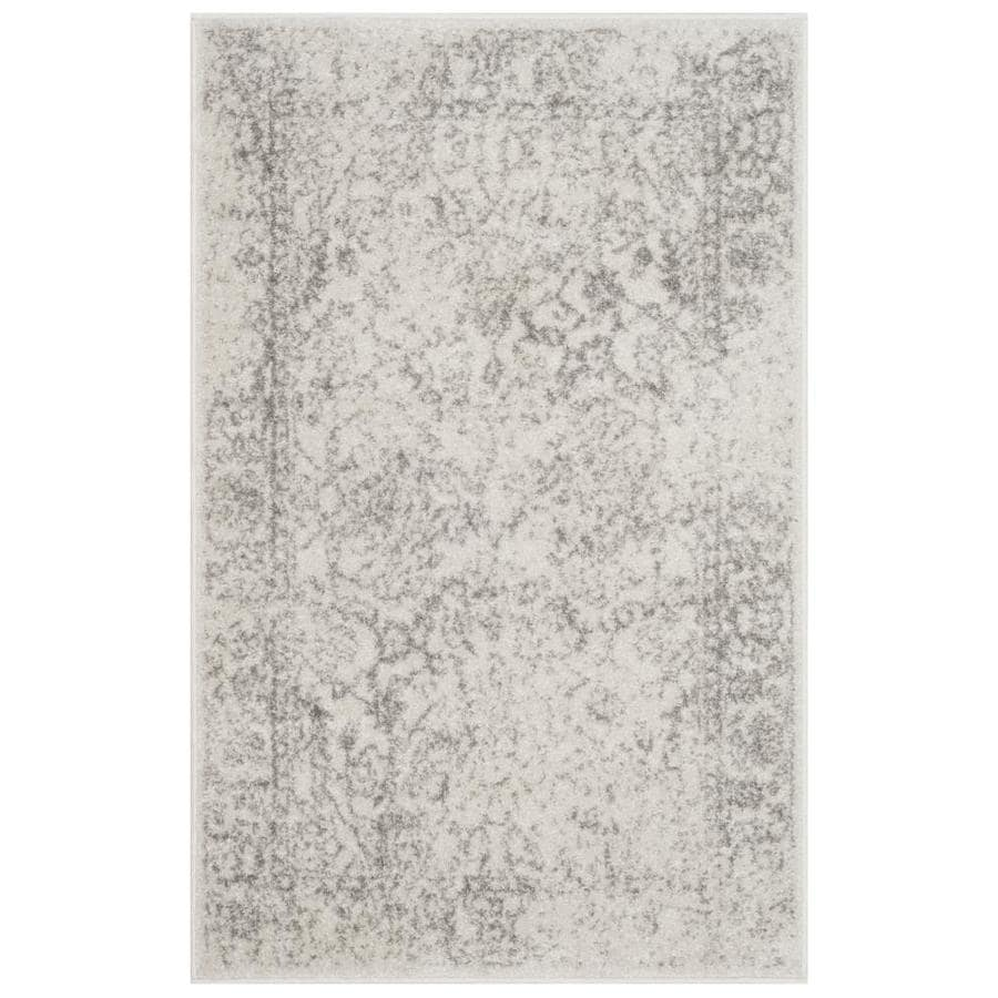 Safavieh Adirondack Kashan Ivory/Silver Indoor Lodge Throw Rug (Common: 2 x 4; Actual: 2.5-ft W x 4-ft L)