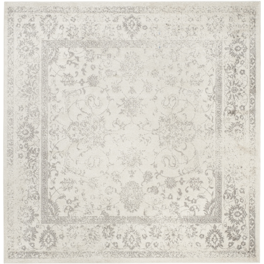 Safavieh Adirondack Ivory/Silver Square Indoor Machine-Made Lodge Area Rug (Common: 8 x 8; Actual: 8-ft W x 8-ft L x 8-ft dia)