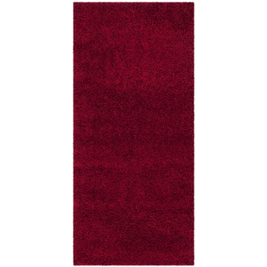 Safavieh California Shag Red Rectangular Indoor Machine-made Throw Rug (Common: 2 x 5; Actual: 2.25-ft W x 5-ft L)