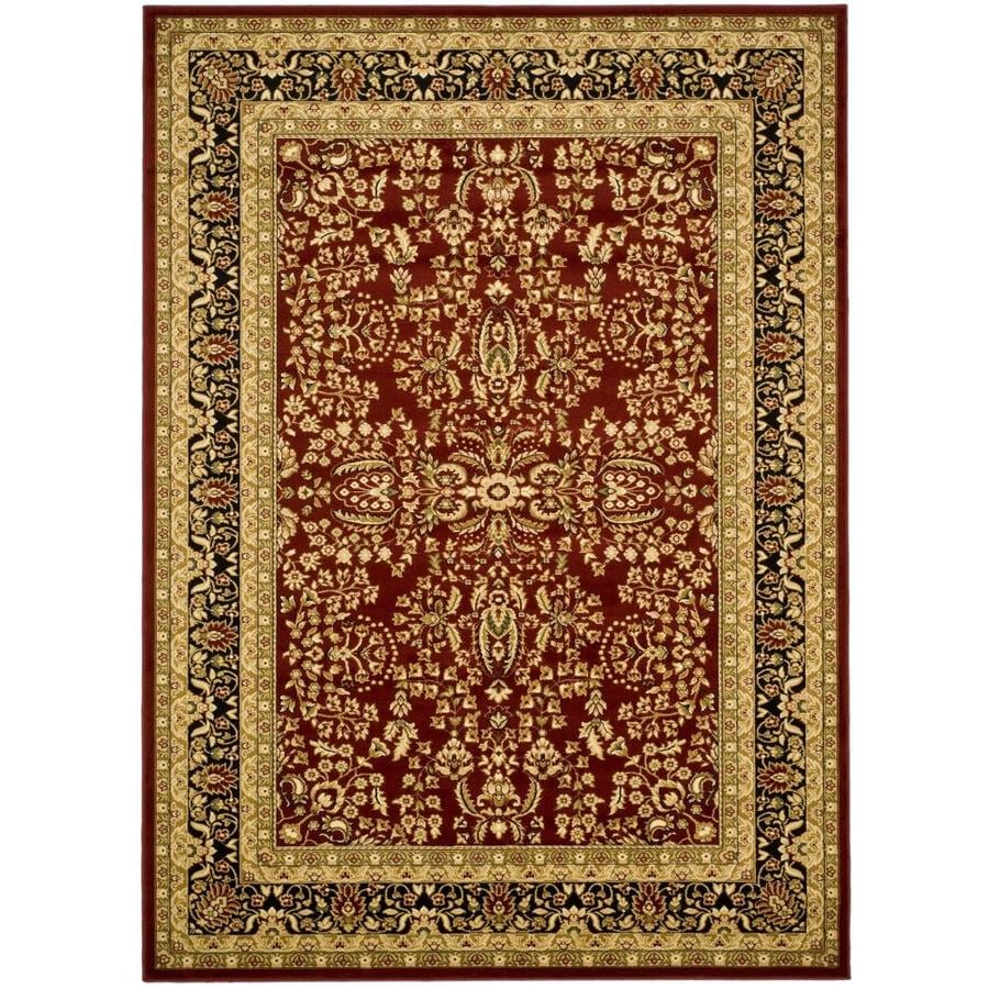 Safavieh Lyndhurst Isphahan Red/Black Indoor Oriental Area Rug (Common: 10 x 14; Actual: 10-ft W x 14-ft L)