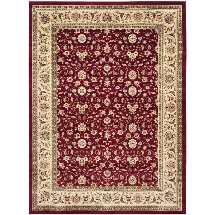 Safavieh Lyndhurst Qum Red/Ivory Indoor Oriental Area Rug (Common: 10 x 14; Actual: 10-ft W x 14-ft L)