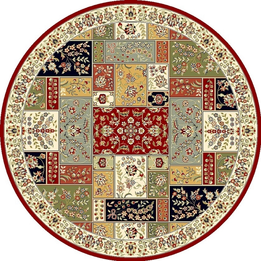 Safavieh Lyndhurst Omni Multi/Ivory Round Indoor Machine-made Oriental Area Rug (Common: 10 x 10; Actual: 10-ft W x 10-ft L x 10-ft Dia)