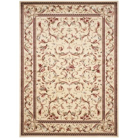 Safavieh Lyndhurst Lyon Ivory/Ivory Indoor Oriental Area Rug (Common: 10 x 14; Actual: 10-ft W x 14-ft L)