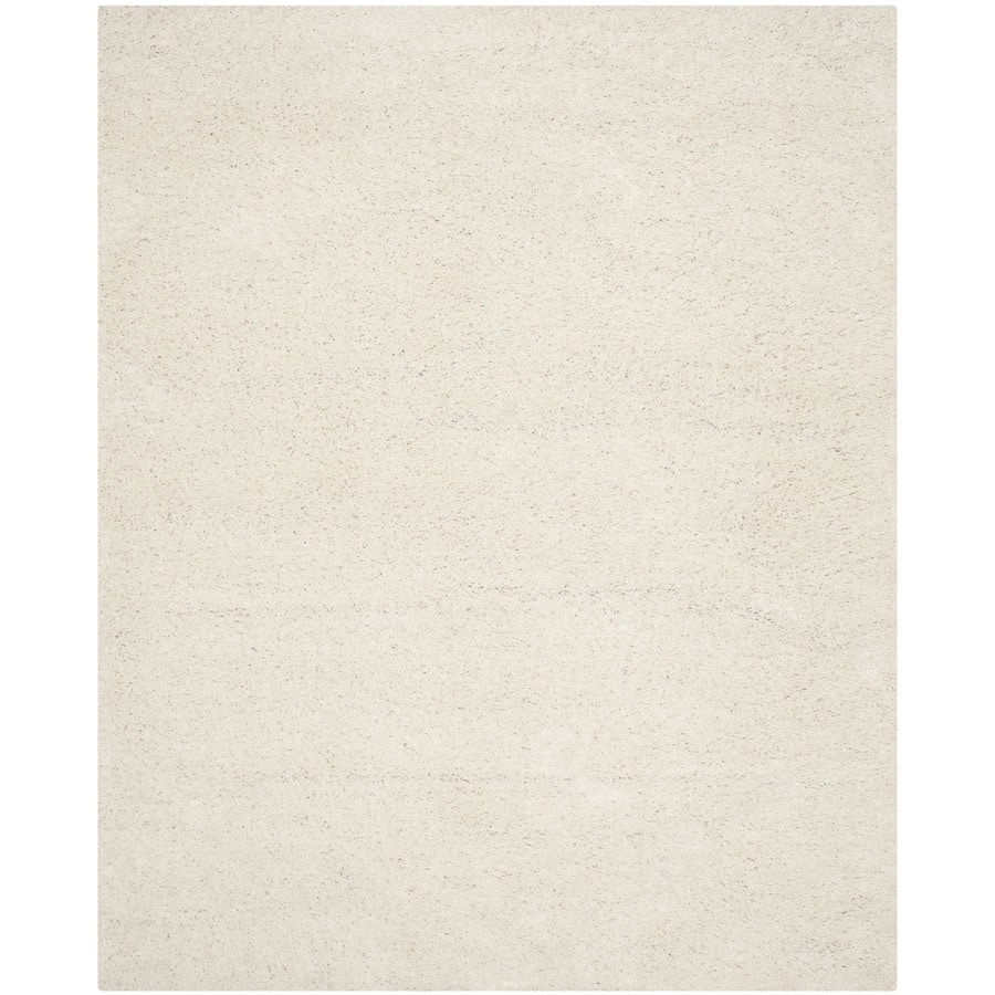 Safavieh Athens Shag White Rectangular Indoor Machine-made Moroccan Area Rug (Common: 10 x 14; Actual: 10-ft W x 14-ft L)