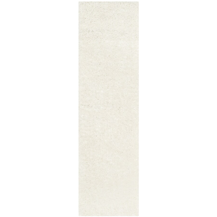Safavieh Athens Shag White Indoor Moroccan Runner (Common: 2 x 8; Actual: 2.25-ft W x 8-ft L)