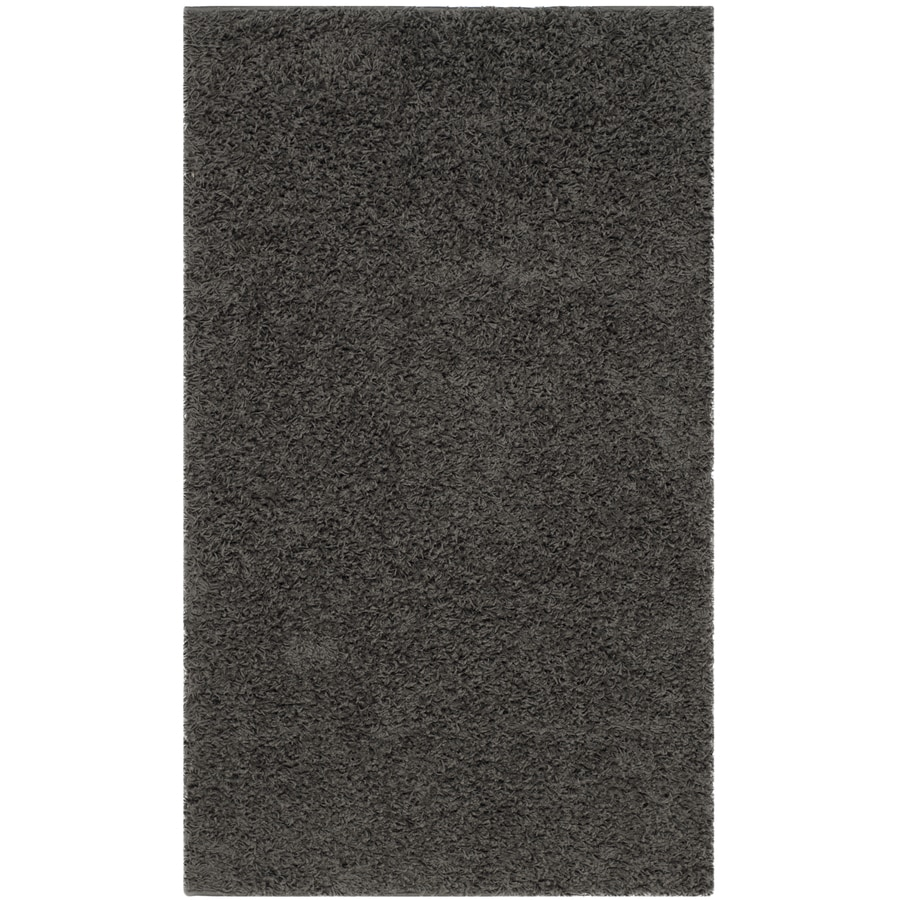 Shop Safavieh Athens Shag Dark Gray Rectangular Indoor