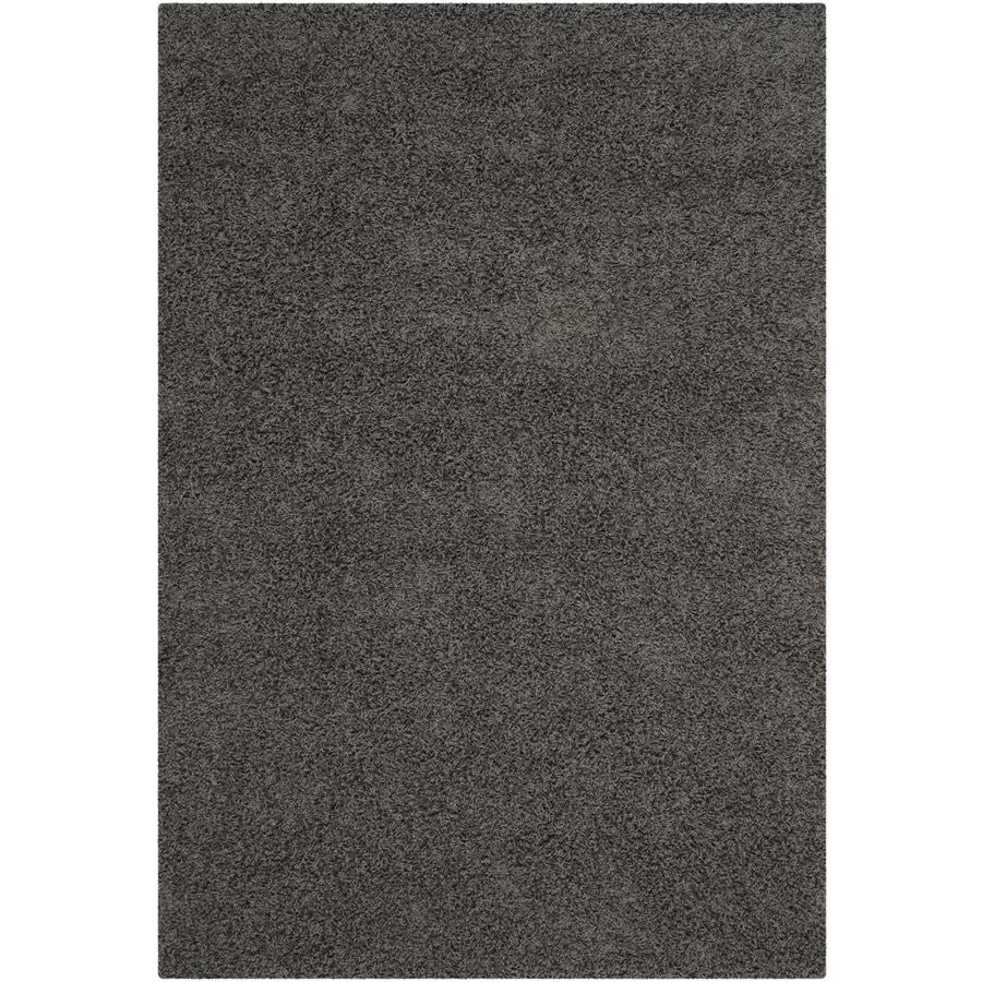 Safavieh Athens Shag Dark Gray Indoor Moroccan Area Rug (Common: 6 x 9; Actual: 6-ft W x 9-ft L)