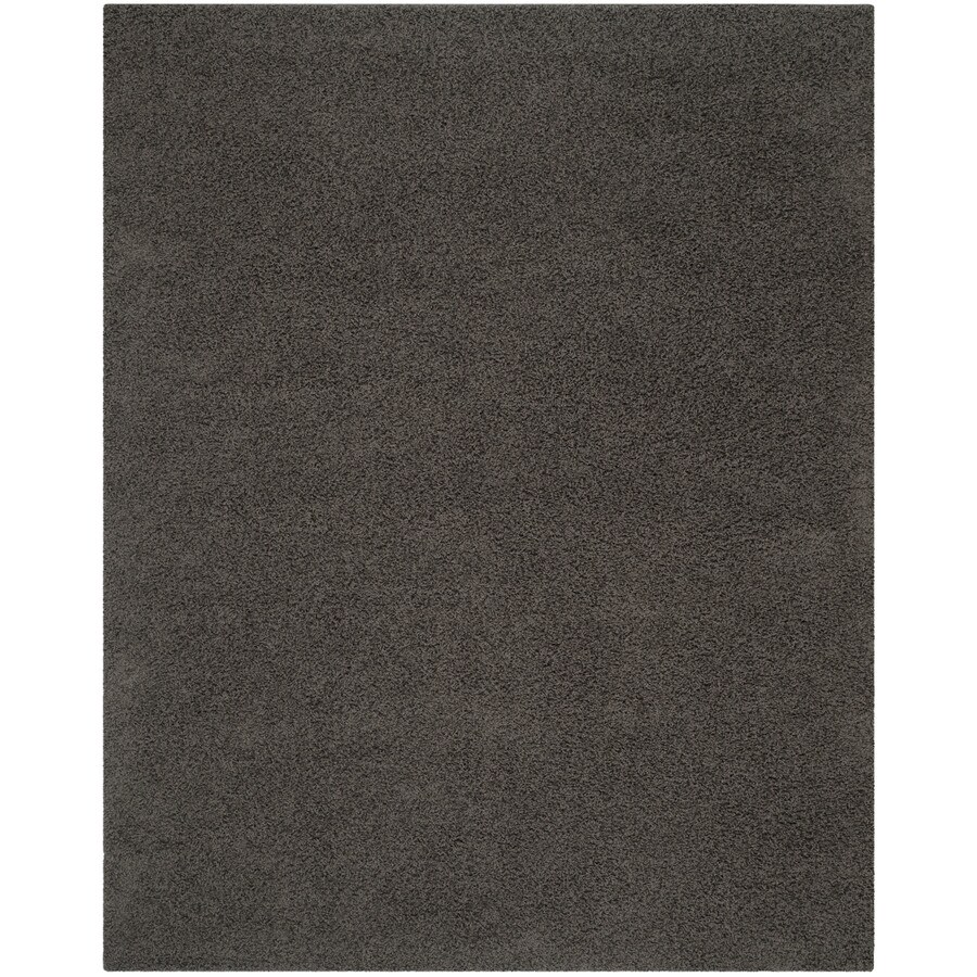Safavieh Athens Shag Dark Grey Rectangular Indoor Machine-Made Area Rug