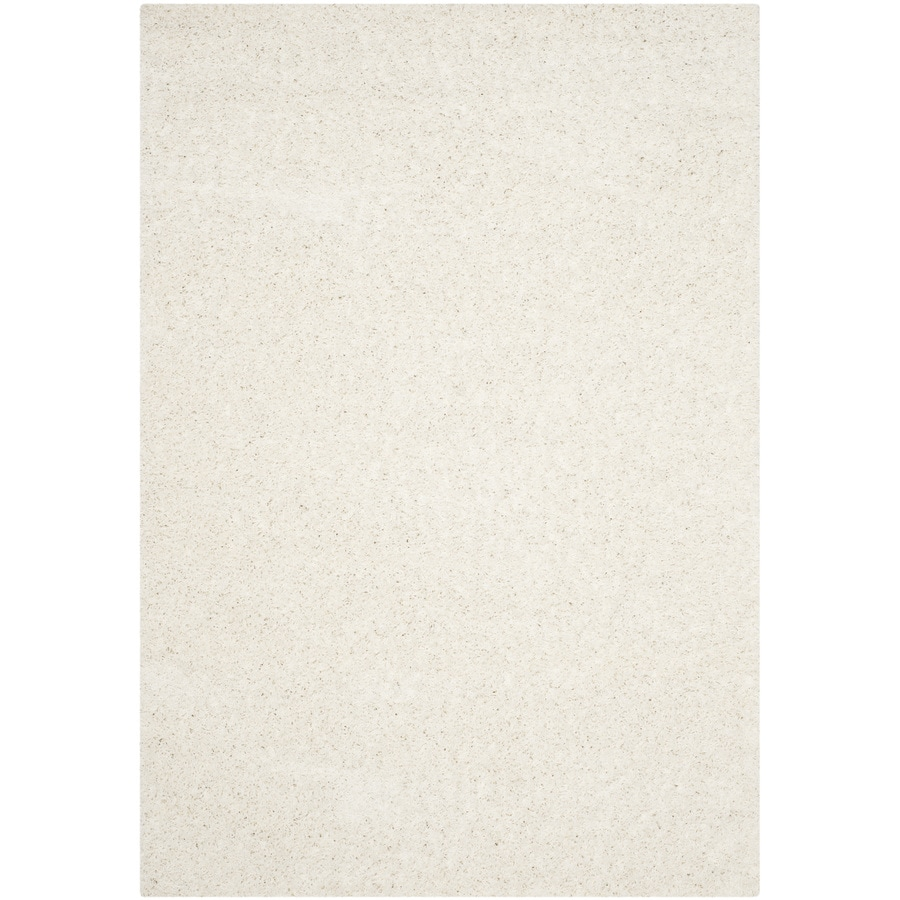 Safavieh Athens Shag White Indoor Moroccan Area Rug (Common: 6 x 9; Actual: 6-ft W x 9-ft L)