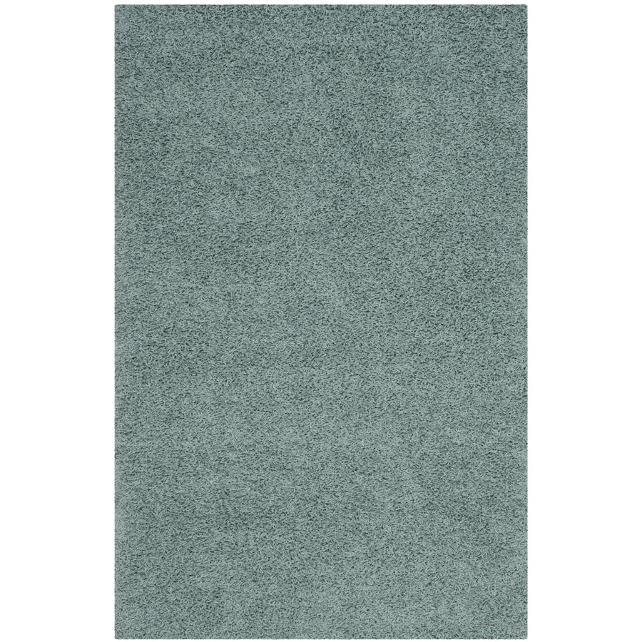 Safavieh Athens Shag Seafoam Indoor Moroccan Area Rug (Common: 6 x 9; Actual: 6-ft W x 9-ft L)