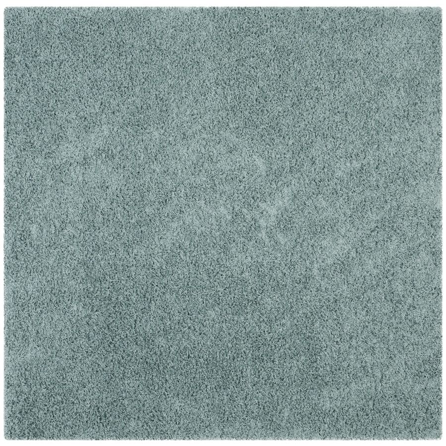 Safavieh Athens Shag Seafoam Square Indoor Machine-Made Moroccan Area Rug (Common: 6 x 6; Actual: 6.583-ft W x 6.583-ft L)