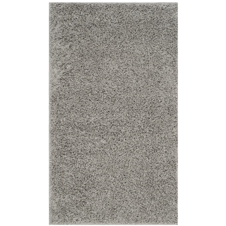 Safavieh Athens Shag Light Gray Indoor Moroccan Throw Rug (Common: 3 x 5; Actual: 3-ft W x 5-ft L)