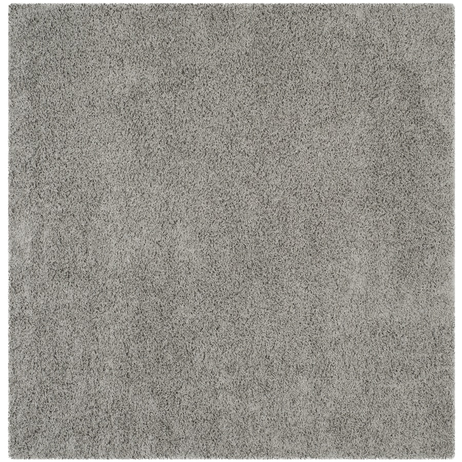 Safavieh Athens Shag Light Gray Square Indoor Moroccan Area Rug (Common: 7 x 7; Actual: 6.7-ft W x 6.6-ft L)
