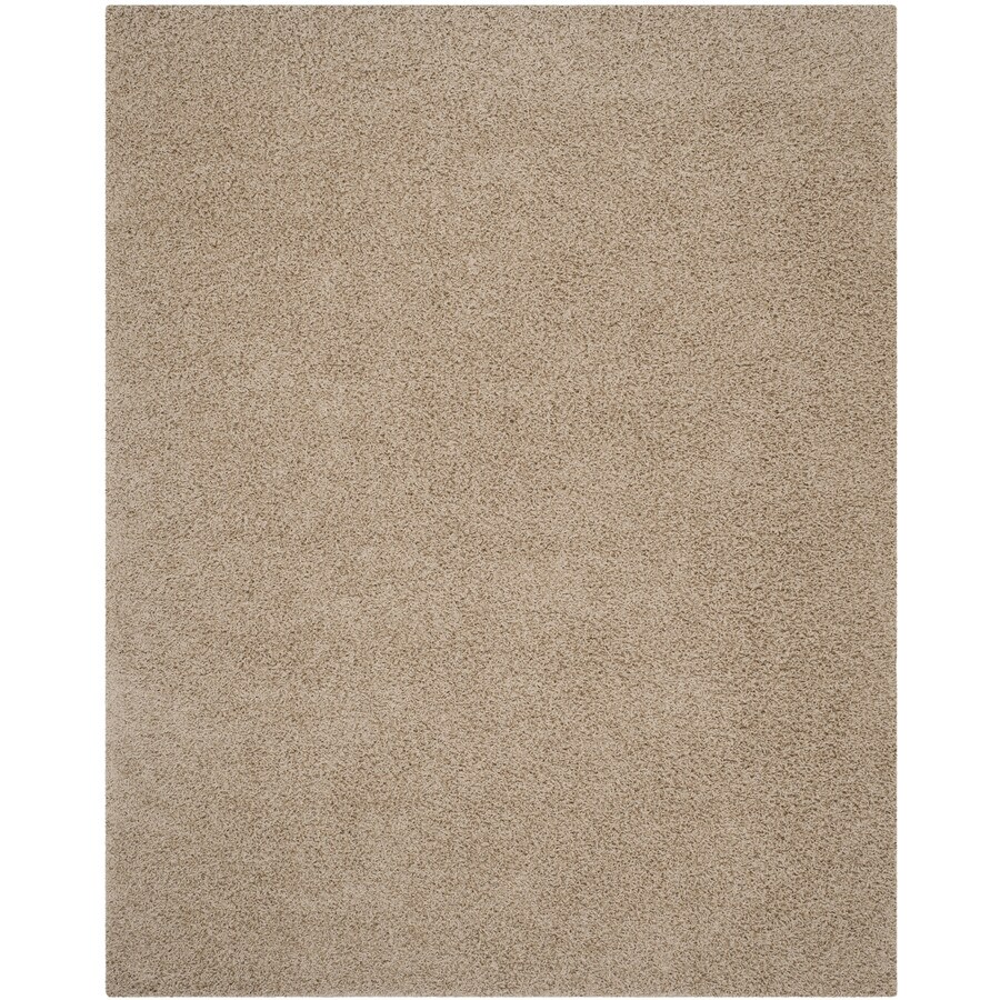 Safavieh Athens Shag Beige Rectangular Indoor Machine-made Moroccan Area Rug (Common: 10 x 14; Actual: 10-ft W x 14-ft L)