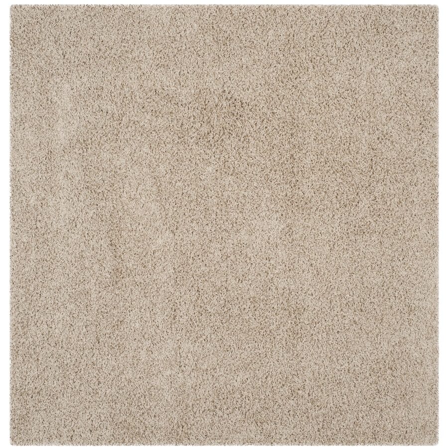 Safavieh Athens Shag Beige Square Indoor Machine-Made Moroccan Area Rug (Common: 6 x 6; Actual: 6.583-ft W x 6.583-ft L)