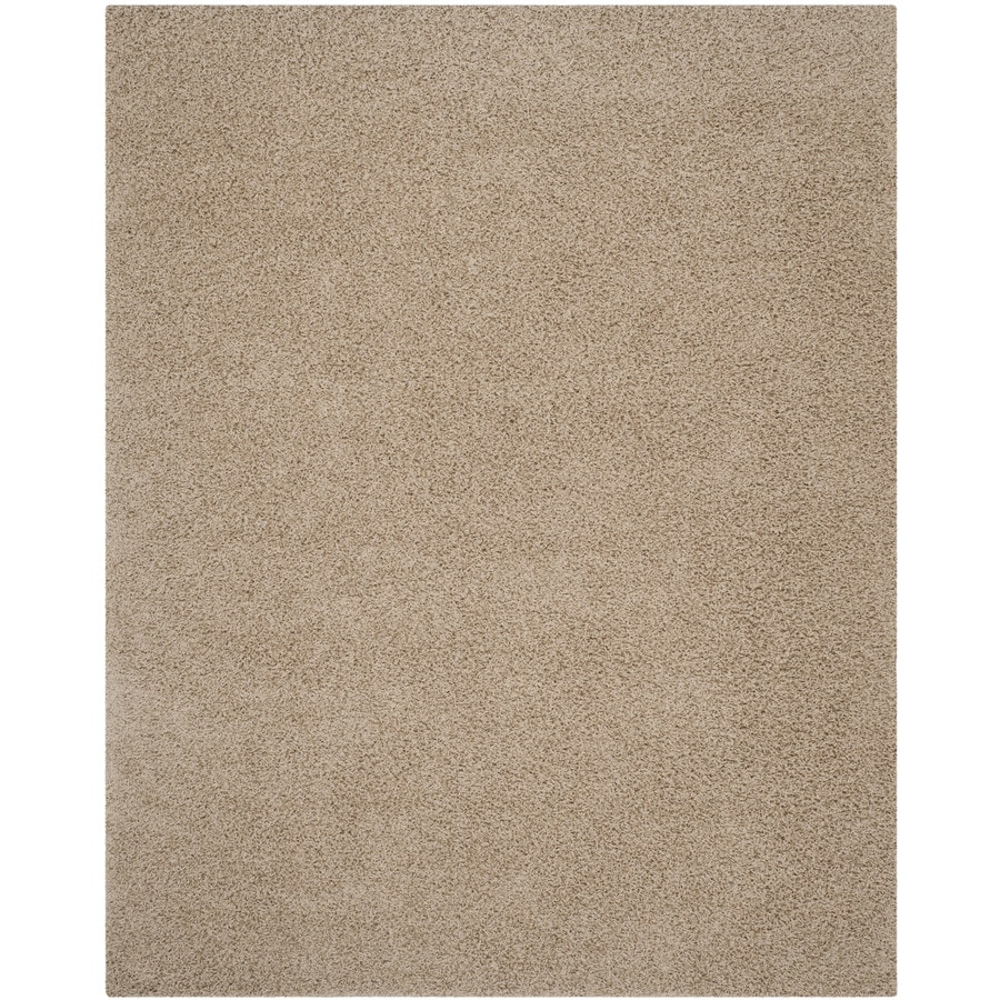 Safavieh Athens Shag Beige Rectangular Indoor Machine-made Moroccan Area Rug (Common: 9 x 12; Actual: 9-ft W x 12-ft L)