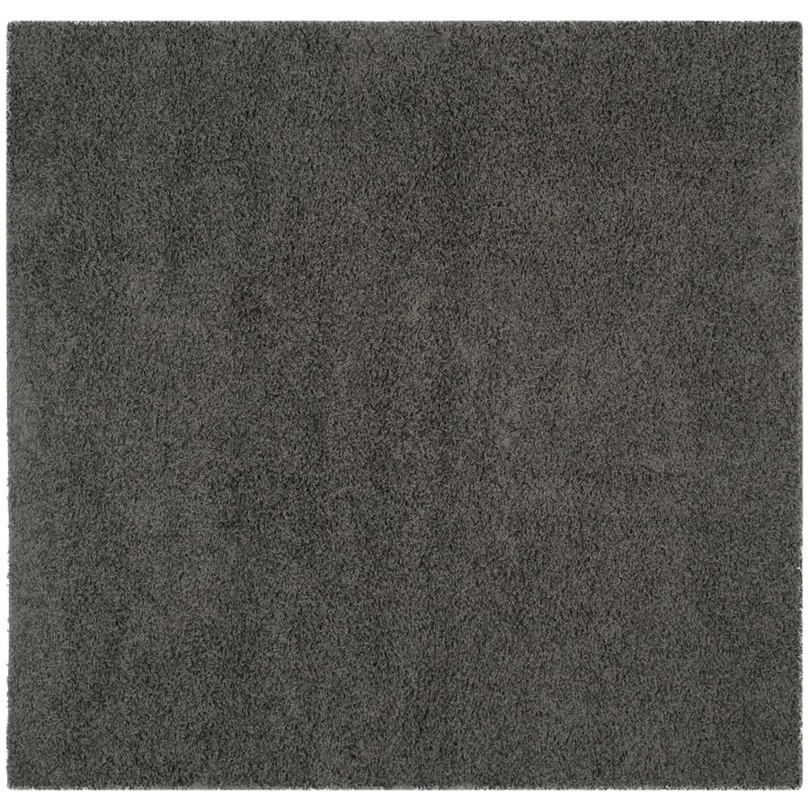 Safavieh Athens Shag Dark Gray Square Indoor Moroccan Area Rug (Common: 7 x 7; Actual: 6.7-ft W x 6.6-ft L)