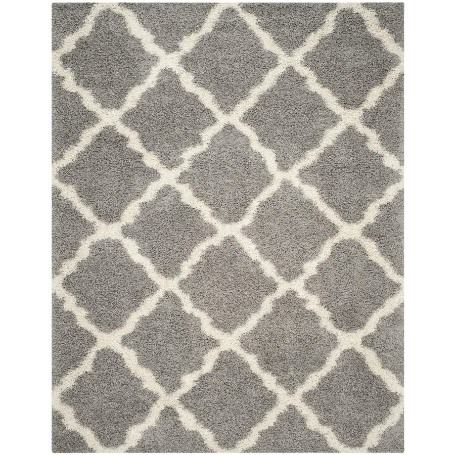 Safavieh Dallas Shag Gray/Ivory Indoor Moroccan Area Rug (Common: 10 x 14; Actual: 10-ft W x 14-ft L)