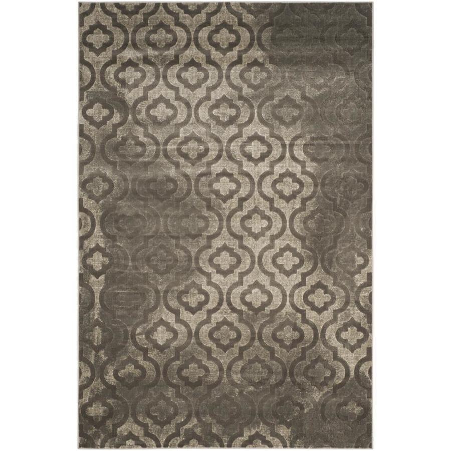 Safavieh Porcello Winfred Gray/Dark Gray Rectangular Indoor Machine-made Moroccan Area Rug (Common: 8 x 11; Actual: 8.167-ft W x 11-ft L)