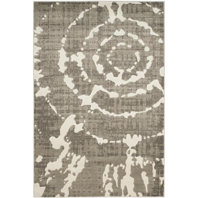 Safavieh Porcello Christa 5 X 8 Gray Ivory Indoor Abstract Area Rug In The Rugs Department At Lowes Com