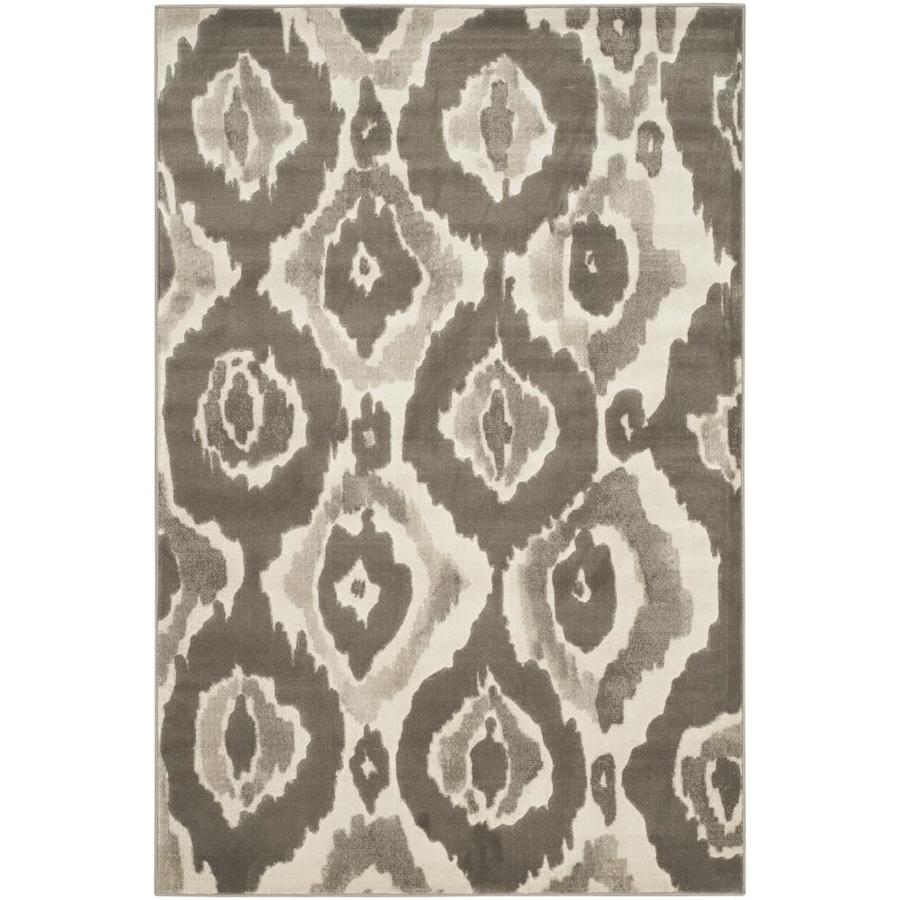 Safavieh Porcello Halle Ivory/Dark Gray Rectangular Indoor Machine-made Distressed Area Rug (Common: 4 x 6; Actual: 4.083-ft W x 6-ft L)