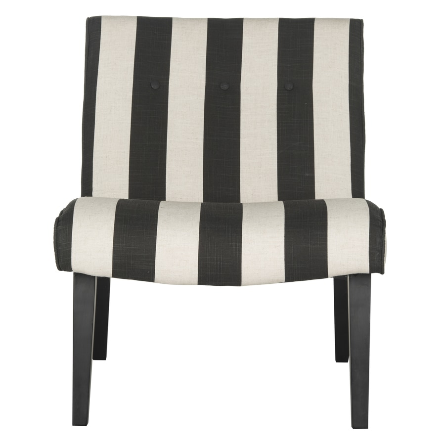 Safavieh Mandell Midcentury Black/White Stripe Accent Chair