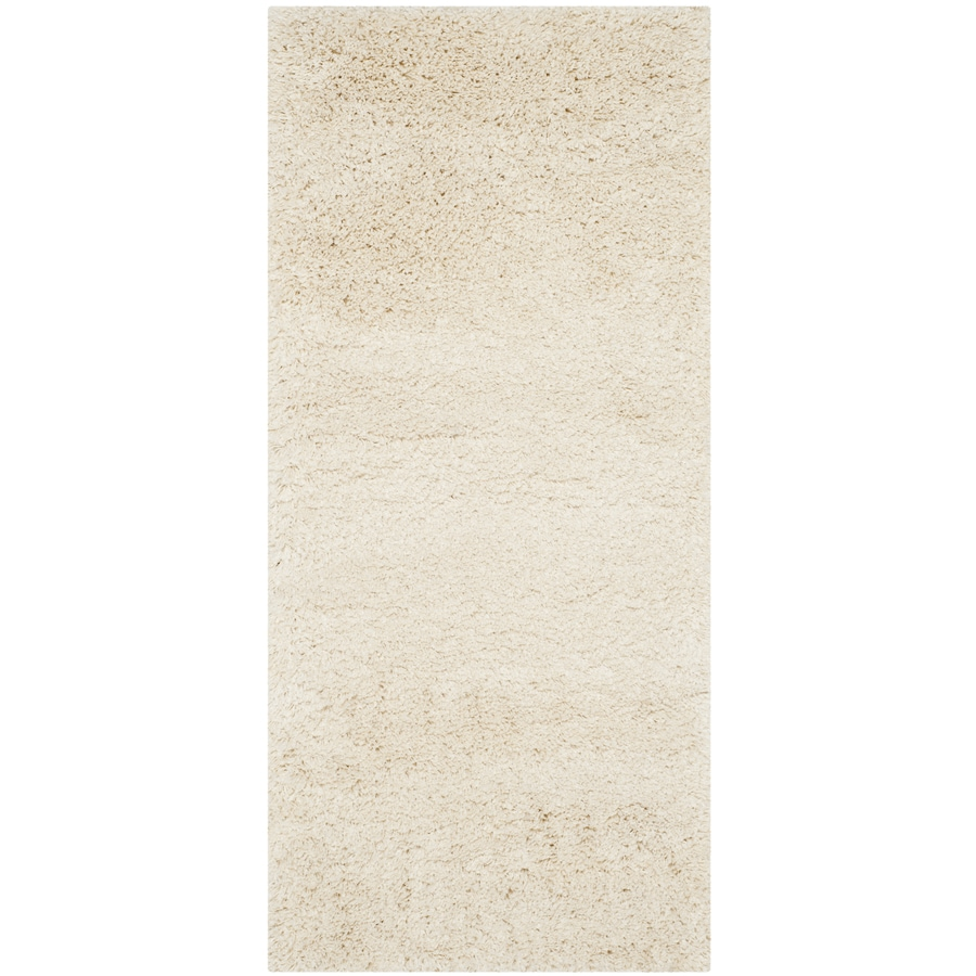 Safavieh California Shag Ivory Rectangular Indoor Machine-made Runner (Common: 2 x 12; Actual: 2.25-ft W x 13-ft L)