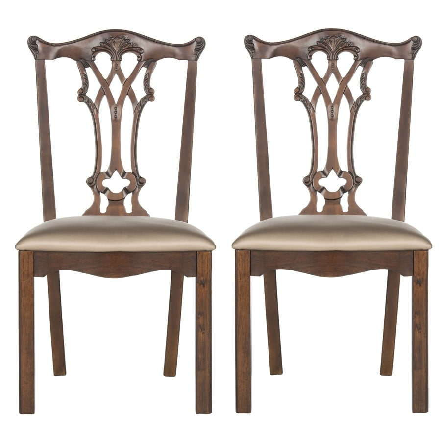 Safavieh Set of 2 Whitfield Gold Silk Accent Chair