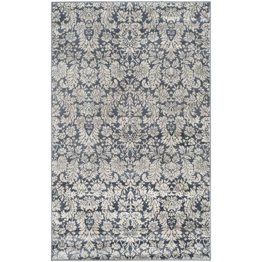 Safavieh Vintage Victoria Navy/Creme Rectangular Indoor Machine-made Distressed Throw Rug (Common: 2 x 4; Actual: 2.6-ft W x 4-ft L)