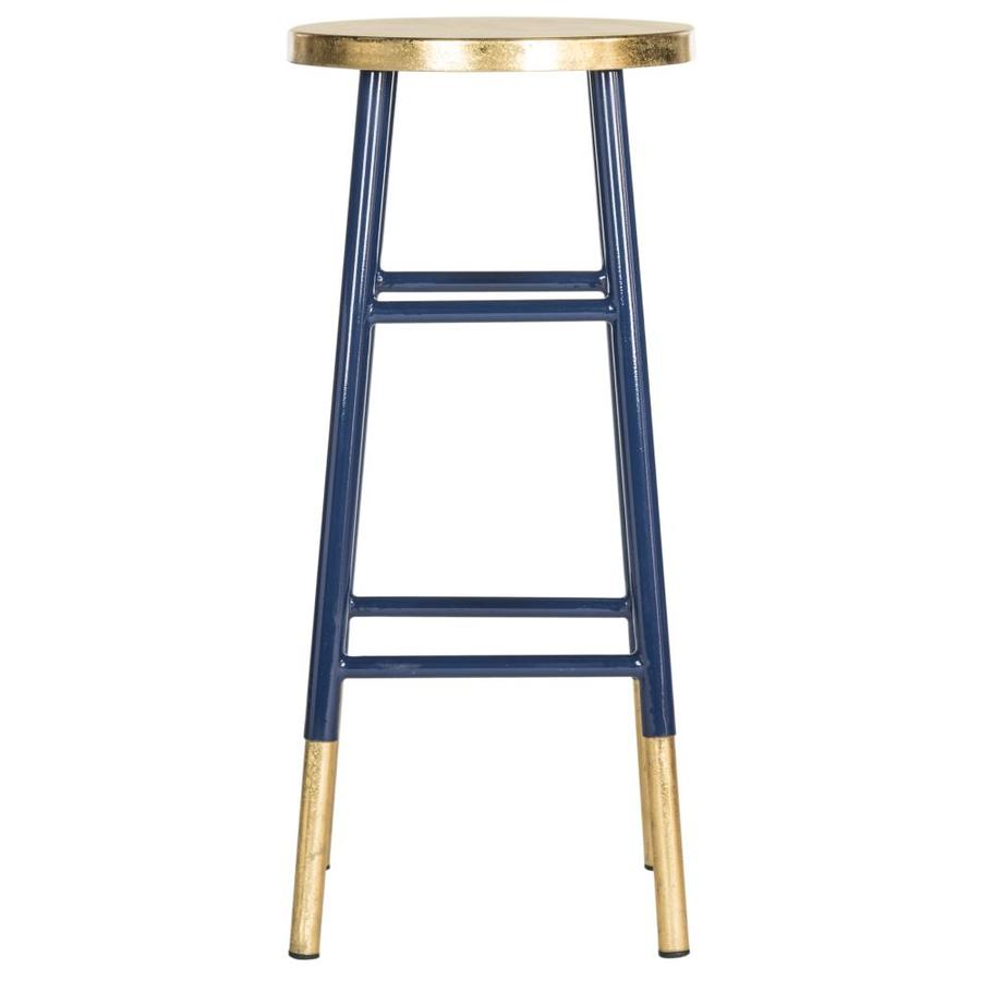 Safavieh Emery Modern Navy/Gold Bar Stool