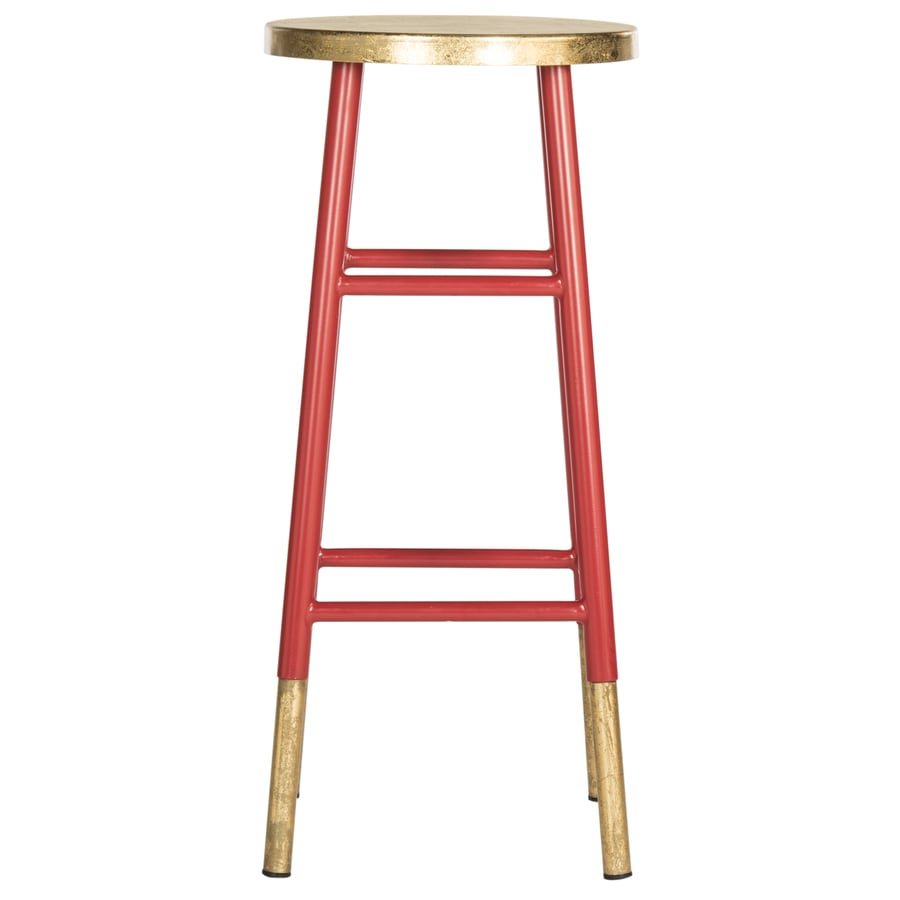 Safavieh Fox Red/Gold 31.5-in Bar Stool (27-in to 35-in)