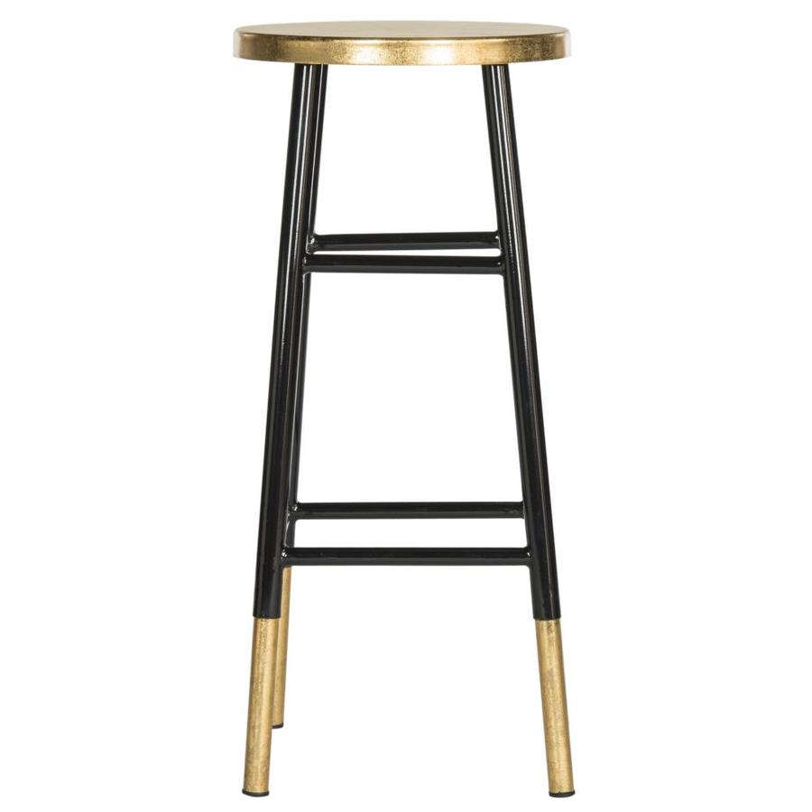 Safavieh Fox Black/Gold 31.5-in Bar Stool (27-in to 35-in)