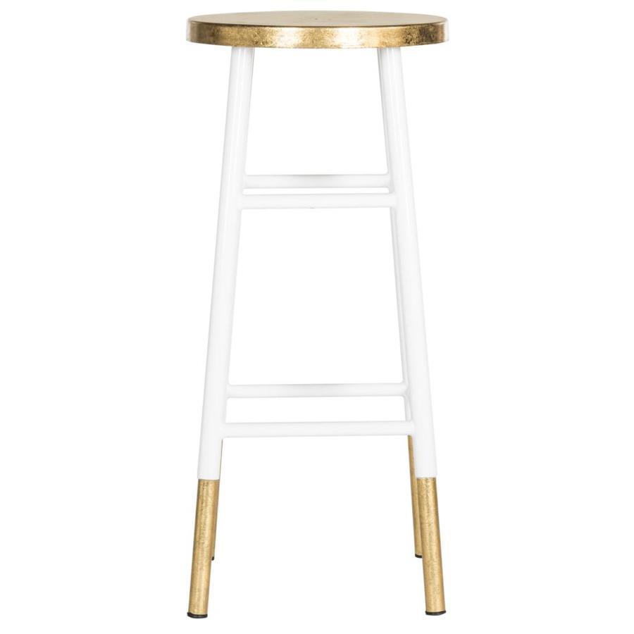 Safavieh Emery Modern White/Gold Bar Stool
