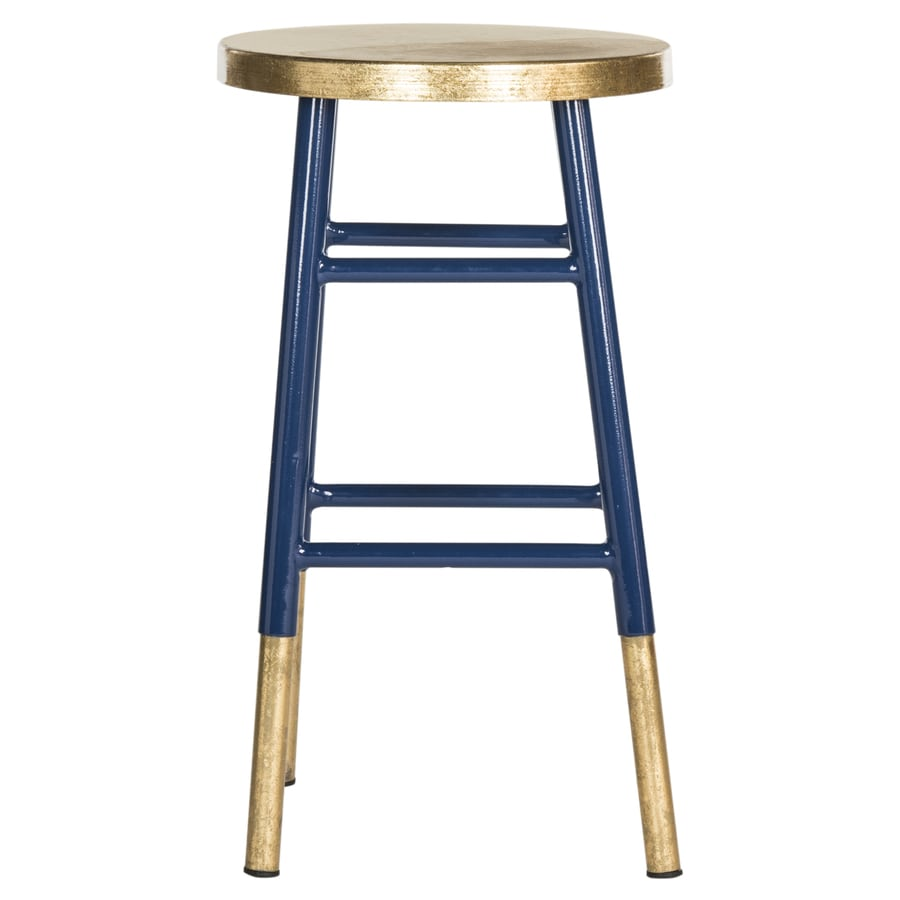 Safavieh Emery Navy Gold Counter Stool At Lowes Com