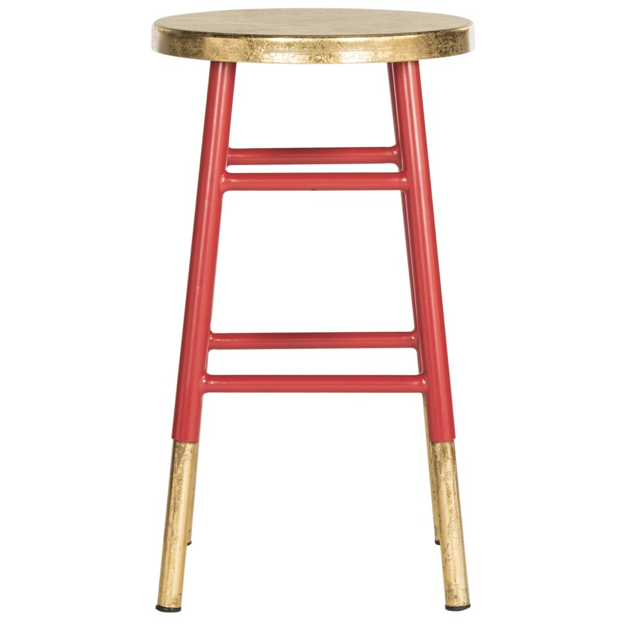 Safavieh Fox Red/Gold 25-in Counter Stool (22-in to 26-in)