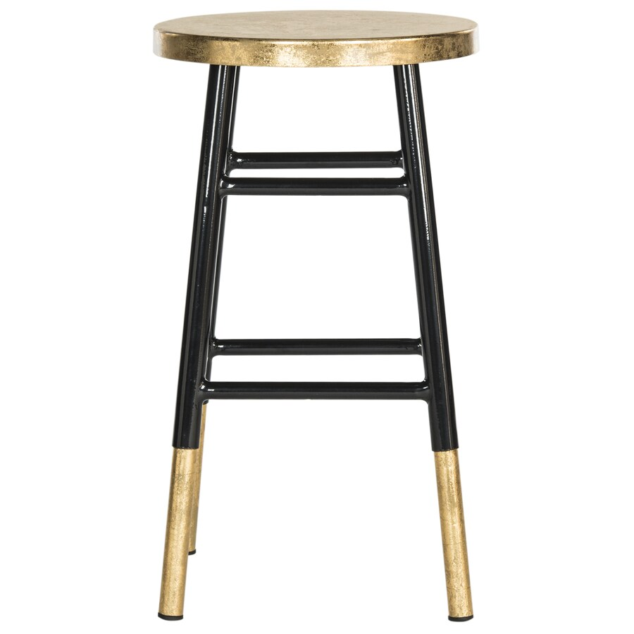Shop Safavieh Emery Modern Black Gold Counter Stool At
