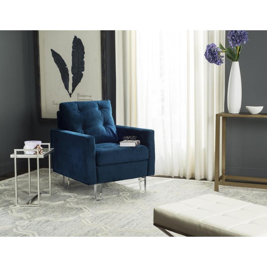 Safavieh Leandra Modern Navy/Clear Club Chair