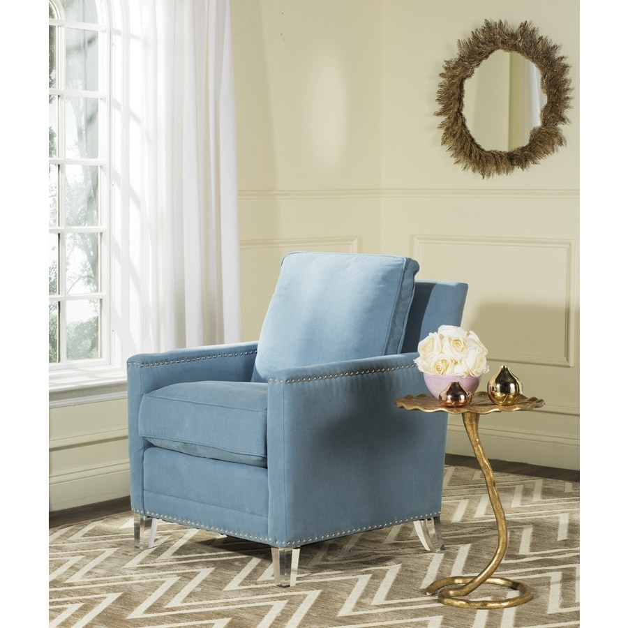 Safavieh Hollywood Casual Blue/Clear Club Chair at Lowes.com