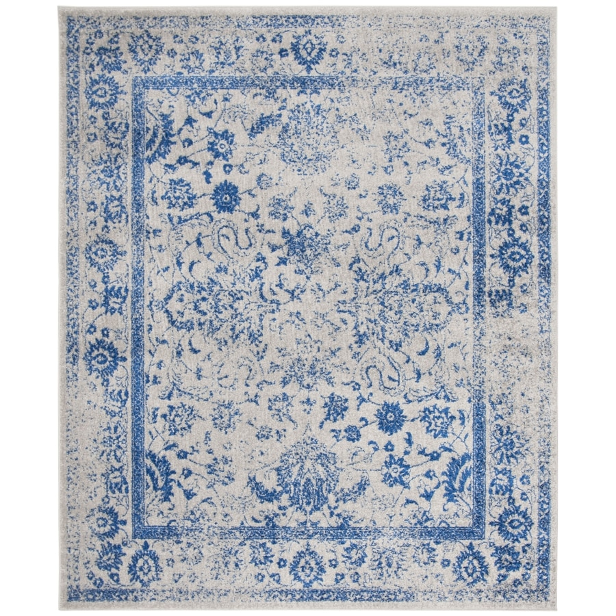Safavieh Adirondack Kashan Gray/Blue Indoor Lodge Area Rug (Common: 10 x 14; Actual: 10-ft W x 14-ft L)