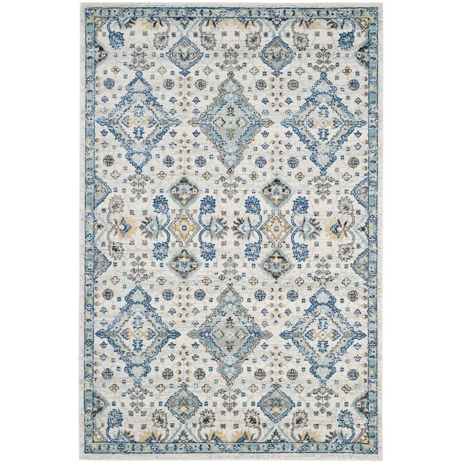 Safavieh Evoke Jaden Ivory/Light Blue Indoor Oriental Area Rug (Common: 5 x 8; Actual: 5.1-ft W x 7.5-ft L)
