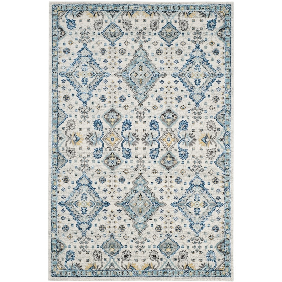 Safavieh Evoke Jaden Ivory/Light Blue Rectangular Indoor Machine-Made Oriental Area Rug (Common: 6 x 9; Actual: 6.6-ft W x 9-ft L)