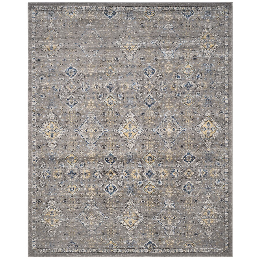 Safavieh Evoke Jaden Dark Gray/Yellow Rectangular Indoor Machine-Made Oriental Area Rug (Common: 10 x 14; Actual: 10-ft W x 14-ft L)