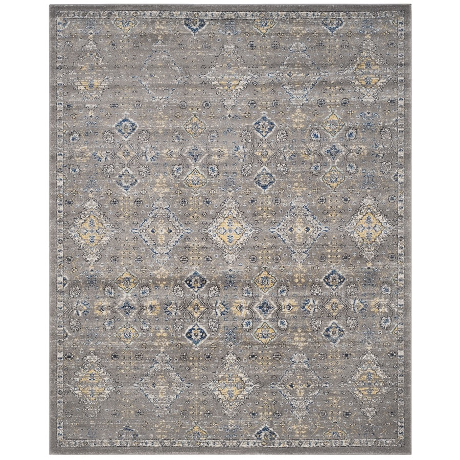 Safavieh Evoke Jaden Dark Gray/Yellow Rectangular Indoor Machine-Made Oriental Area Rug (Common: 6 x 9; Actual: 6.6-ft W x 9-ft L)