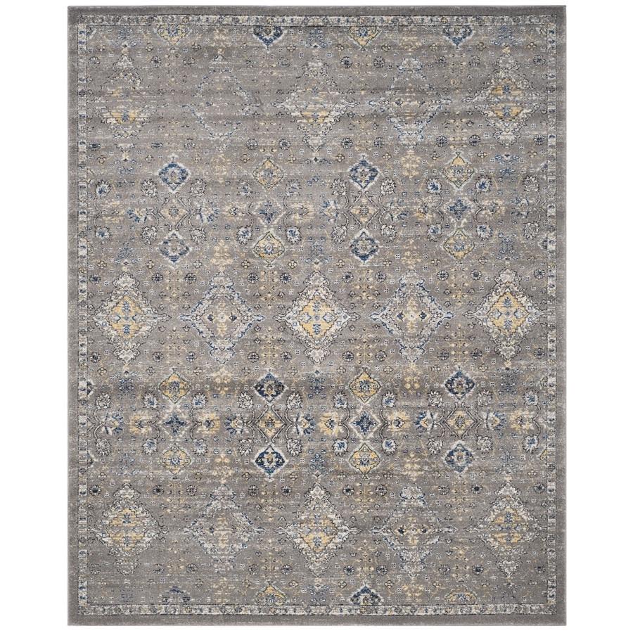Safavieh Evoke Jaden Dark Gray/Yellow Rectangular Indoor Machine-Made Oriental Area Rug (Common: 9 x 12; Actual: 9-ft W x 12-ft L)