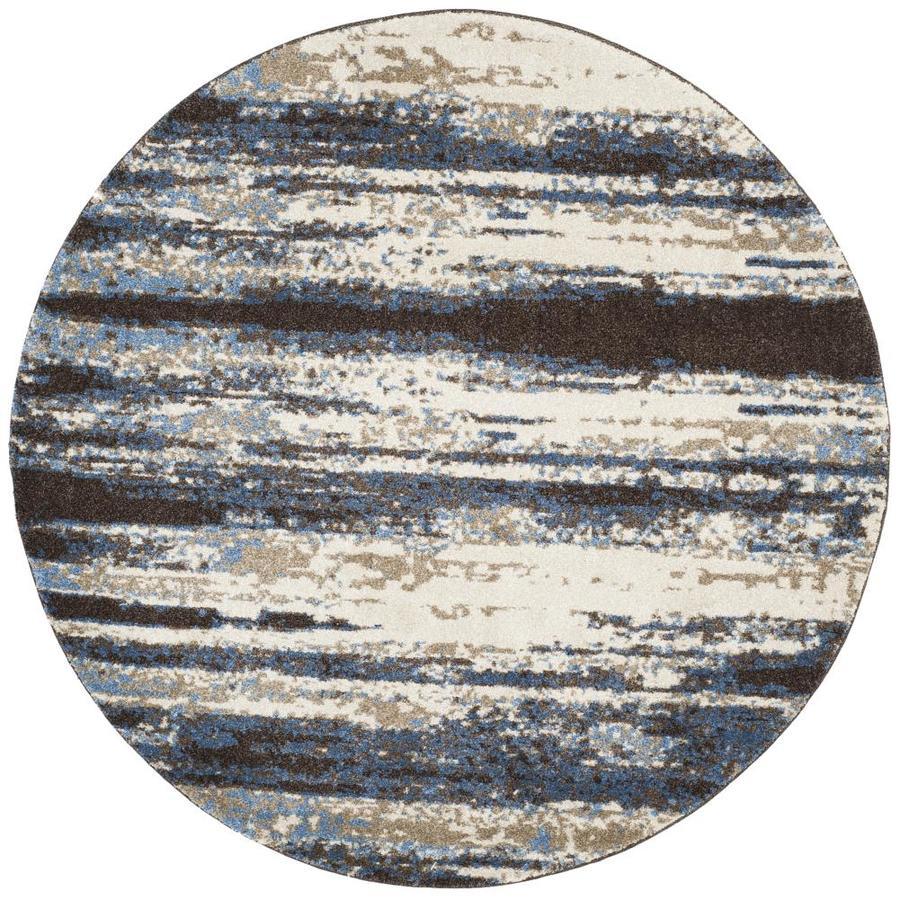 Safavieh Retro Kingston Cream/Blue 6-ft x 6-ft